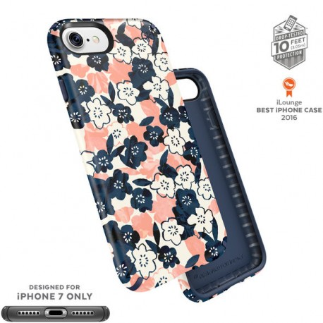 Speck Presidio Inked Marbled Floral Peach Matte/Marine Blue (iPhone 7)