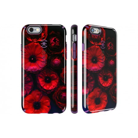 Speck for Apple iPhone 6/6s CandyShell Inked Moody Bloom Pattern/Acai Purple