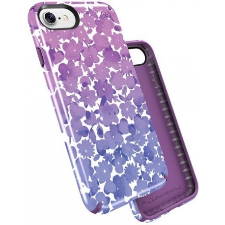 Speck for Apple iPhone 7 Presidio Inked Watercolor Floral Purple Gloss Acai Purple