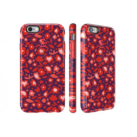 Speck for Apple iPhone 66s Candyshell Inked Kurbits Floral RedWild Salmon Pink