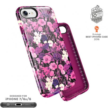 Speck for Apple iPhone 7 Presidio Inked Flower Etch Pink Metallic/Magenta Pink