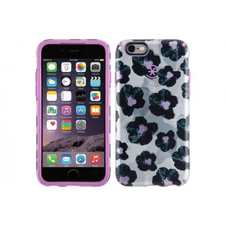 Speck for Apple iPhone 6/6s Candyshell Inked Platinum Posies/Beaming Orchid Purple