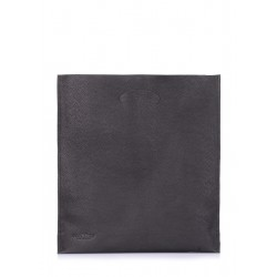 POOLPARTY Shopper Leather Black