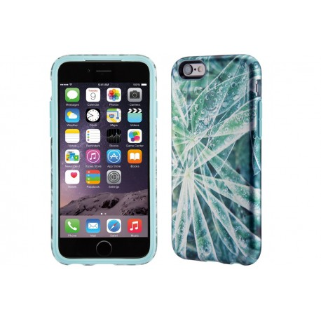 Speck for Apple iPhone 6/6s Candyshell Inked Luxury Edition Silver Leaves/River Blue