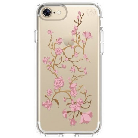Speck for Apple iPhone 7 Presidio Clear With Graphics Goldenblossom PinkClear