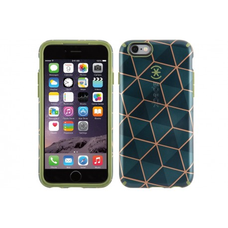 Speck for Apple iPhone 6/6s Candyshell Inked Luxury Edition Stacked Cube Green/Moss Green