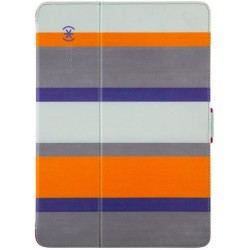 Speck for Apple iPad Air and iPad Air 2 StyleFolio Cabana StripeSea Glass BlueVivid Purple