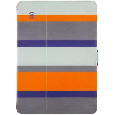 Speck for Apple iPad Air and iPad Air 2 StyleFolio Cabana StripeSea Glass BlueVivid Purple