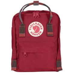 Fjallraven Kanken Mini (Deep Red-Folk Pattern)