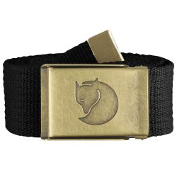 Fjallraven Canvas Brass Belt 4cm (Black)