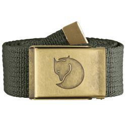 Fjallraven Canvas Brass Belt 4cm (Mountain Grey)