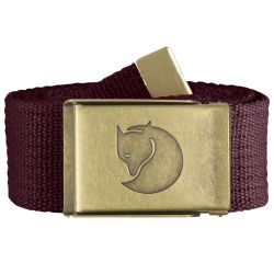 Fjallraven Canvas Brass Belt 4cm (Dark Garnet)