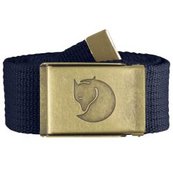 Fjallraven Canvas Brass Belt 4cm (Dark Navy)