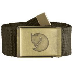 Fjallraven Canvas Brass Belt 4cm (Dark Olive)