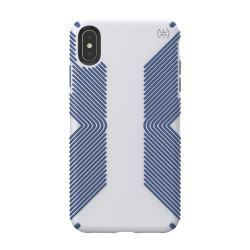 Speck Presidio Grip (iPhone XR Max - Microchip Grey/Ballpoint Blue)
