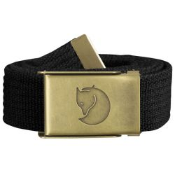 Fjallraven Canvas Brass Belt 3cm (Black)