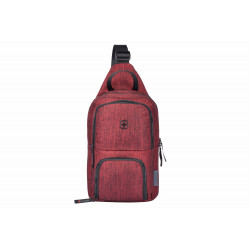 Wenger Console Cross Body Bag (Burgundy Grey)