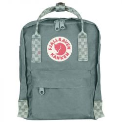 Fjallraven Kanken Mini (Frost Green/Chess Pattern)