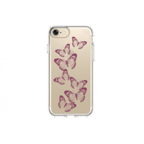 Speck Presidio Clear for Apple IPhone 7 with Graphics Brilliant Butterflies Rose Gold Clear