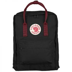 Fjallraven Kanken (Black-Ox Red)