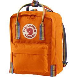 Fjallraven Kanken Rainbow Mini (Burnt Orange/Rainbow Pattern)