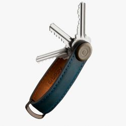 Orbitkey 2.0 Crazy Horse Leather Key Organiser (Marine Blue/Blue)