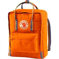 Fjallraven Kanken Rainbow (Burnt Orange/Rainbow Pattern)