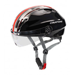 Cratoni Evolution Light S/M (Black-Red) 53-57 см