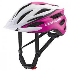 Велошлем Cratoni Pacer XS-S (49-55 см) белый/розовый матовый