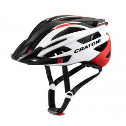 Cratoni Agravic M/L (Red-White Black Matt) 54-59 см