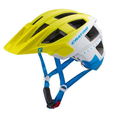 Cratoni Allset S/M (Lime-White-Blue Matt) 55-58 см