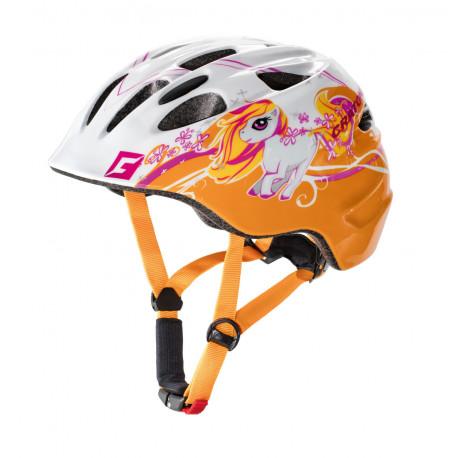 Cratoni Akino Pony S (White-Orange Glossy) 49-53 см