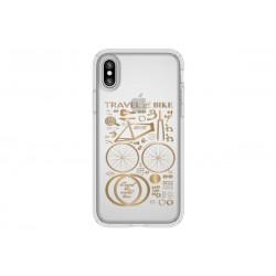 Speck Presidio Clear + Print City Bike Metallic Gold Yellow (iPhone X)