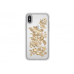 Speck Presidio Clear + Print Shimmer Floral Metallic Gold (iPhone X)