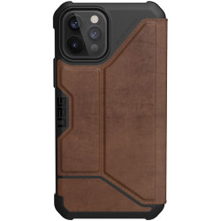 UAG Metropolis (iPhone 12/12 Pro) Leather Brown