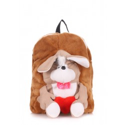 POOLPARTY Kiddy Backpack Dog Brown