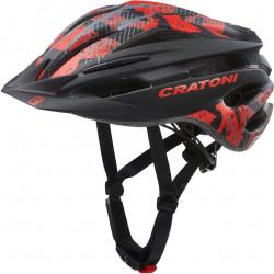 Cratoni Pacer Junior S-M (Black Red Matt) 54-58 см