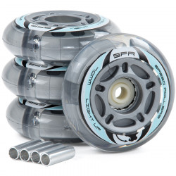 SFR Light Up Inline Wheels 72/82A (Grey)