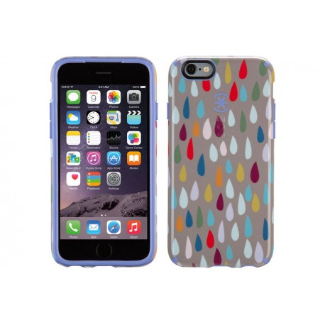 Speck for Apple iPhone 6/6s CandyShell Inked Rainbow Drop Pattern/Beaming Orchid Purple