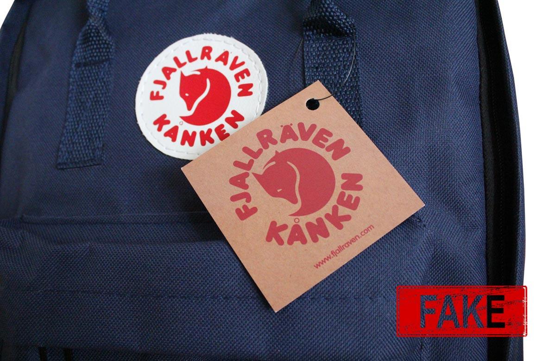 Fjallraven Kanken - визуальные отличия подделки