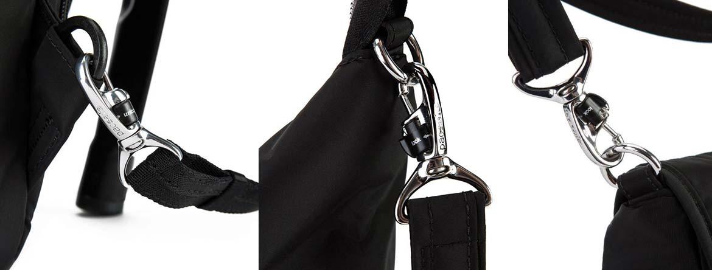 Pacsafe Turn & Lock security hooks