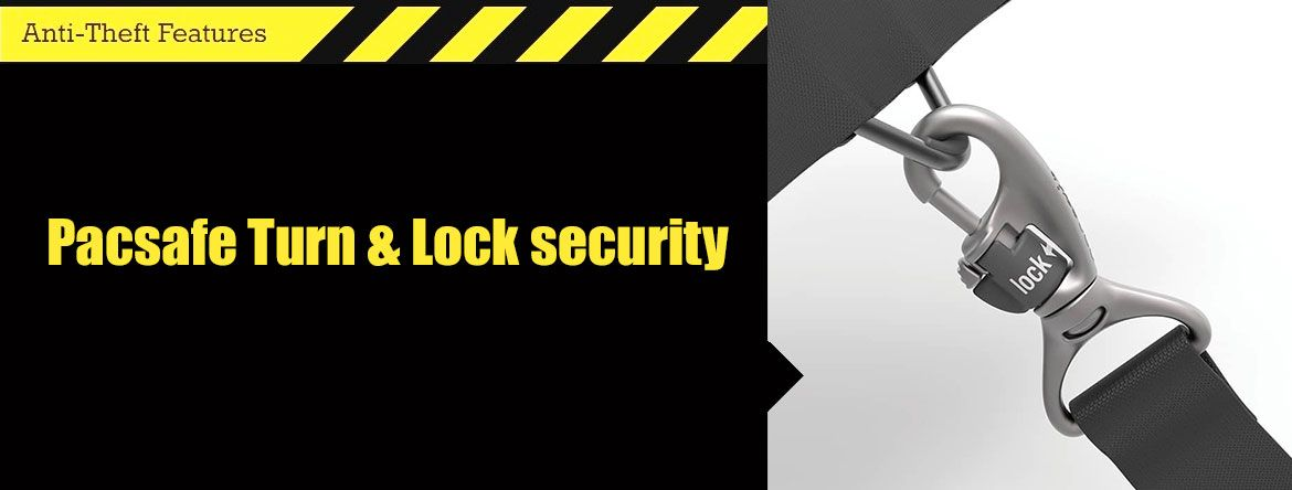 Pacsafe Turn & Lock security