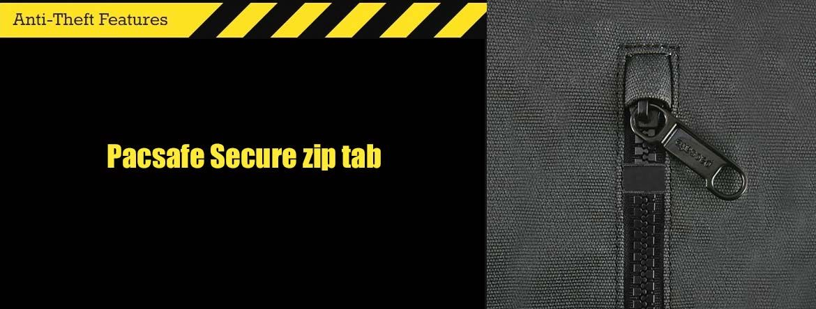 Pacsafe Secure zip tab